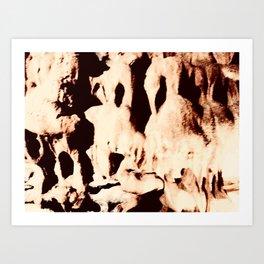 Cavern abstract Art Print