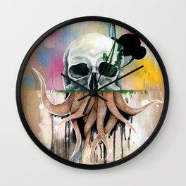 Skull Roots Wall Clock