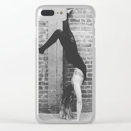 Yogic Handstand Clear iPhone Case