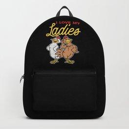 I Love My Ladies Backpack