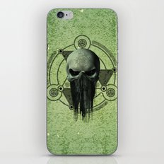 Awesome green skull  iPhone & iPod Skin
