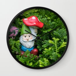 Hidden Gnome Wall Clock