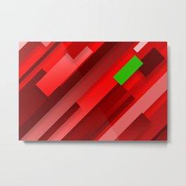 Red lines Metal Print