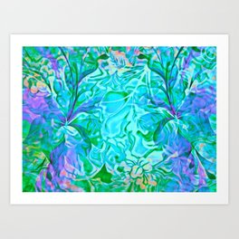 Tropical Breeze Floral Abstract Art Print
