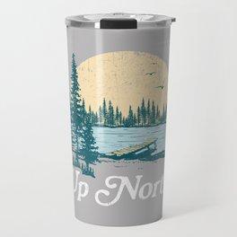 Vintage Retro Up North Lake Travel Mug
