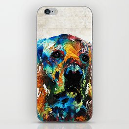 Colorful Dog Art - Heart And Soul - By Sharon Cummings iPhone Skin