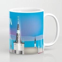Tallinn, Estonia - Skyline Illustration by Loose Petals Coffee Mug