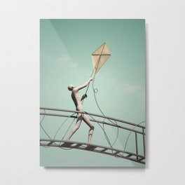 Kite Flyer Metal Print