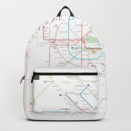 Germany Berlin Metro Bus U-bahn S-bahn map Backpack