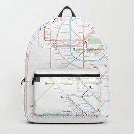 Germany Berlin Metro Bus U-bahn S-bahn map Backpack