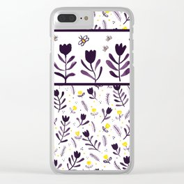 tiptoe through the tulips ... Clear iPhone Case