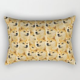 shibe doge fun and funny meme adorable Rectangular Pillow