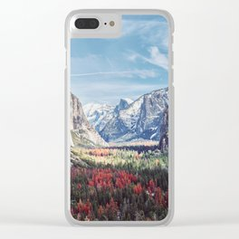 Tunnel View Yosemite Valley Clear iPhone Case