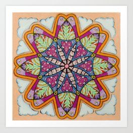 Freedom Mandala - מנדלה חופש Art Print