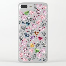 Heart Diamonds are Forever Love Clear iPhone Case