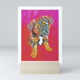 Pet Dog and Puppy Pictures, Colorful Cute and Canine Mini Art Print