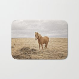 Solitary Horse in Color Bath Mat