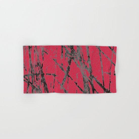 red black scratchy grunge Hand & Bath Towel