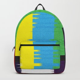 color tv bar#glitch#effect Backpack