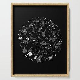 Stars & Animals Cosmic Constellation Pattern Serving Tray
