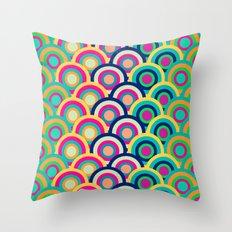 Circle colors Throw Pillow