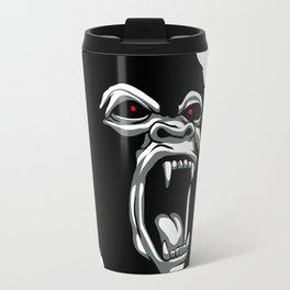 Angry gorilla head. Travel Mug
