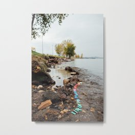 56 lighters on Lake Erie Metal Print