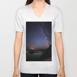 Crater Lake Galaxy Unisex V-Neck