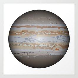 Planet Jupiter Art Print