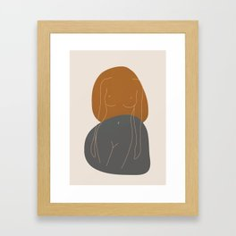 Line Female Figure 81 Framed Art Print