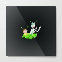 RICK morty portal Metal Print