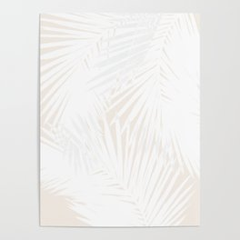 Palms White & Nude Poster