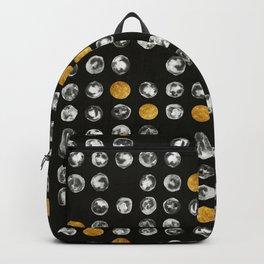 Full Moon Gold Binary Pattern Backpack