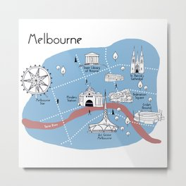 Mapping Melbourne - Original Metal Print