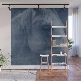 Abstract Horse No. 2 | Blue Wall Mural