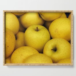 Golden Yellow Apples Serving Tray