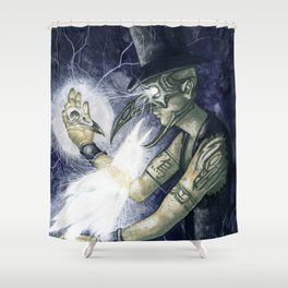 Shadow Man 3 Shower Curtain