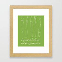 A pencil and a dream... greenery! Framed Art Print
