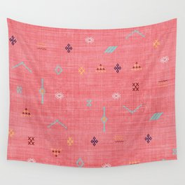 Cactus Silk Pattern in Pink Wall Tapestry