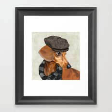 Elegant Mr. Dachshund Framed Art Print