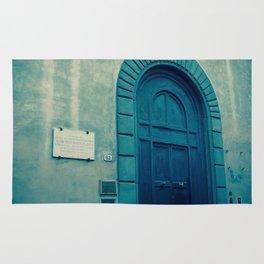 Church Door in Blue Rug
