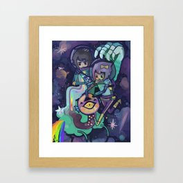 Space Worm Framed Art Print