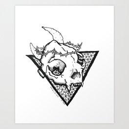 Occult Cat Skull Art Print