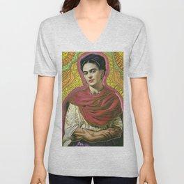 Holy Frida / Santa Frida Unisex V-Neck