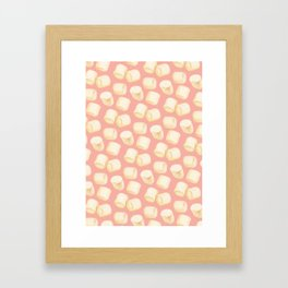 Marshmallow Pattern - Pink Framed Art Print