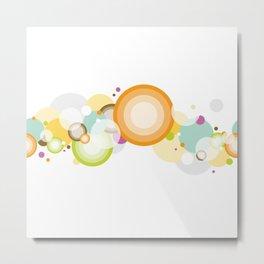 seamless pattern colorful circle Metal Print