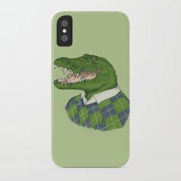 Argyle Crocodile iPhone Case
