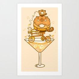 donut biker Art Print