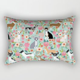 Chihuahua floral dog breed cute pet gifts for chiwawa lovers chihuahuas owners Rectangular Pillow