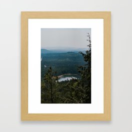 Echo Lake in The White Mountains Framed Art Print